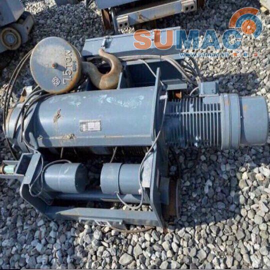 Máy tời điện 7.5 tấn dầm đôi Hitachi