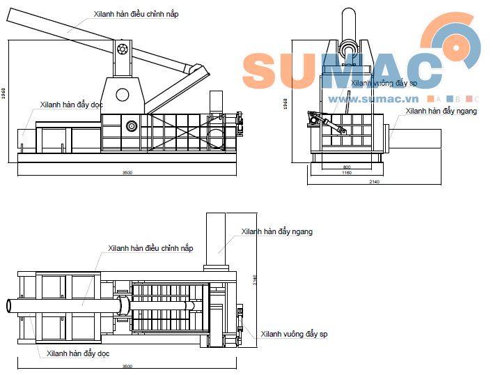 Automatic Hydraulic Scrap Baling Press Machine