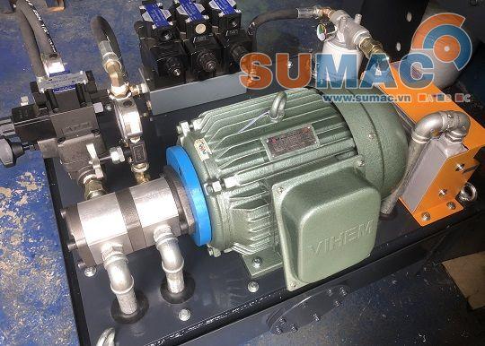 ứng dụng đông cơ điện 3 pha vihem trong bộ nguồn thủy lực