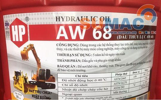 thông số dầu thủy lực aw68