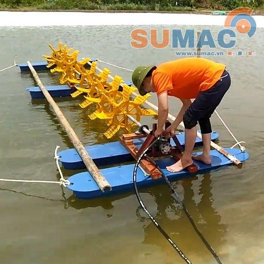 Sử dụng quạt nước trong nuôi tôm thủy hải sản